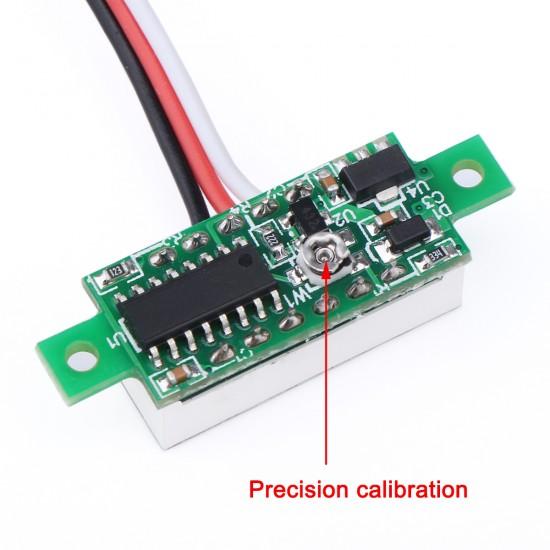 Digital Voltmeter DC 0 ~100V Voltage Meter/Panel Meter Red/Blue/Green/Yellow Led display Digital Meter DC 12V 24V Volt Meter/Power Monitor/Tester