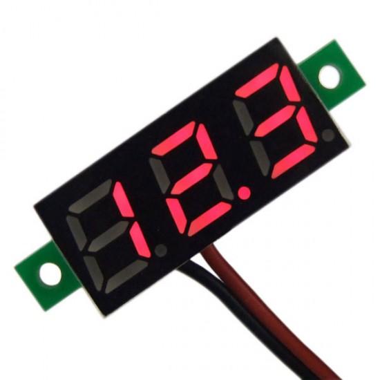 DC 3.0~30V Digital Voltmeter Red/Yellow/Blue/Green Led display Voltage Meter/Digital Meter/Tester DC 12V 24V Volt Meter/Panel Meter/Monitor