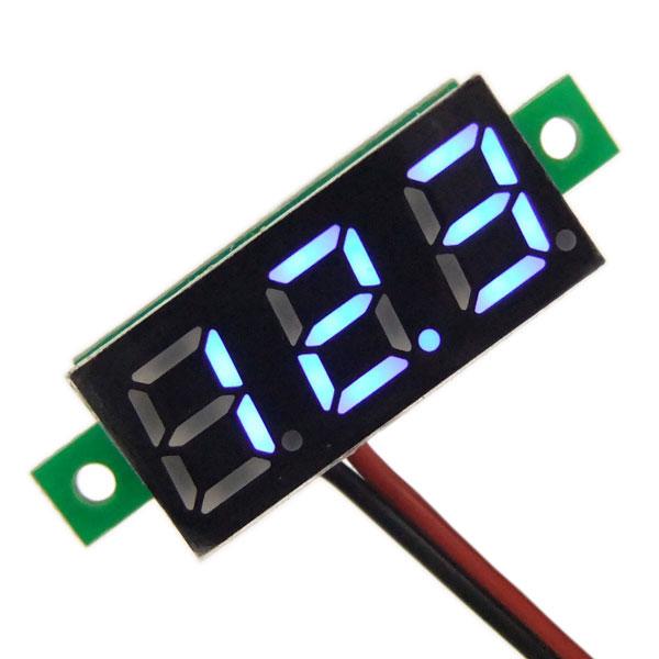 Digital Voltmeter DC 3.0~30V Voltage Meter/Digital Meter/Tester Red/Yellow/Blue/Green Led display Volt Meter DC 12V 24V Panel Meter/Monitor