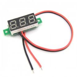 Digital Voltage Meter DC 3.0~30V Voltmeter Red/Yellow/Blue/Green Led display Volt Meter/Tester DC 12V 24V Panel Meter/Monitor