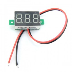 Ultra-small DC 3~30V Red/Blue/Yellow/Green/White LED Volt Tester DC 12/24V Digital Voltmeter for Car Motorcycle and DIY ect