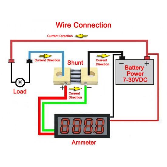 DC 300A 75mV Current Shunt DC 0-300A Shunt Resistors Electric Shunt Resistance Resistor Kit for Ammeter Amp Current Tester Gauge