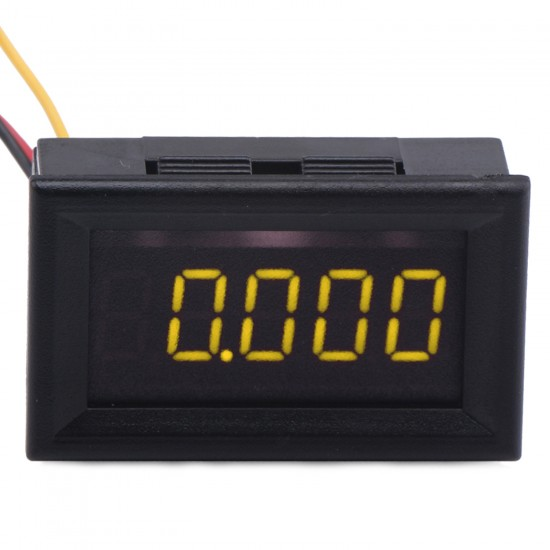 DC 0~30.000V Voltmeter/Digital Meter/Panel Meter Red/Yellow Led display Voltage Meter DC12V 24V Power Monitor/Tester