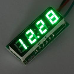 Digital Voltage Meter DC 0~33V Voltmeter Red/Blue/Yellow/Green Led display Panel Meter/Tester DC12V 24V Volt Meter/Monitor/Digital Meter