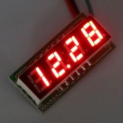 Digital Voltmeter DC 0~200V Voltage Meter/Digital Meter Red/Blue/Yellow/Green Led display Panel Meter DC 12V 24V Volt Meter/Power Monitor/Tester