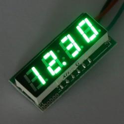 DC 12V 24V Digital Meter DC 0~200V Voltmeter Green Red/Blue/Yellow/Green display Voltage Meter/Panel Meter/Power Monitor/Tester
