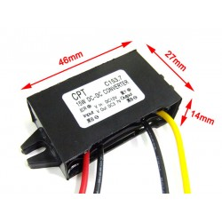 DC 12V to 3.7V 3A 15W Step-down Converter Waterproof Car Power Supply DC Buck Converter Stepdown for RV