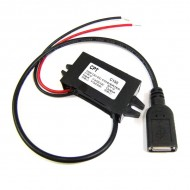 DC 12V to 5V Water Proof USB Interface Converter Car Power Supply Buck Module