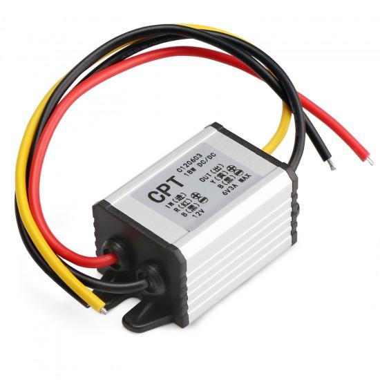 Waterproof 18W Power Converter DC 12V (7~22V) to 6V 3A Buck Power Supply Module/Voltage Regulator/Power Adapter/Driver Module