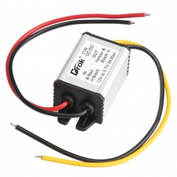 Waterproof DC Voltage Converter 12V to 3.7V Step Down Module 3A/11W Regulated Power Supply Multiple Protection Car Adapter