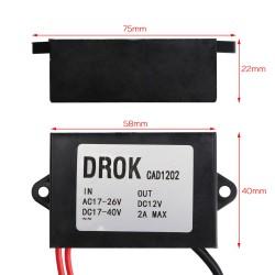 24W Power Adapter AC 15~26V to 12V 2A Buck Converte/Voltage Regulator/Car Power Supply/Driver Module