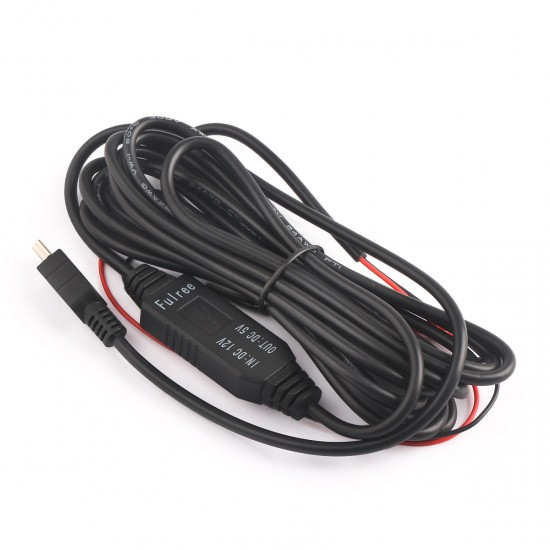 DC 8-22V 12V to 5V 3A Step Down Voltage Regulator Buck Car Power Supply Cable Length 3 Meters Build-with Fuse