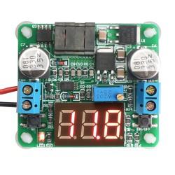 DC Boost Buck Converter DC 5.0~25V to 0.5V-25V 2A 25W Adjustable Power Supply Module/Adapter/Driver Module + Voltmeter