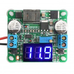 Blue 5-25V to 0.5-25V DC Boost-buck Converter 2A Step Up Down Voltage Regulator