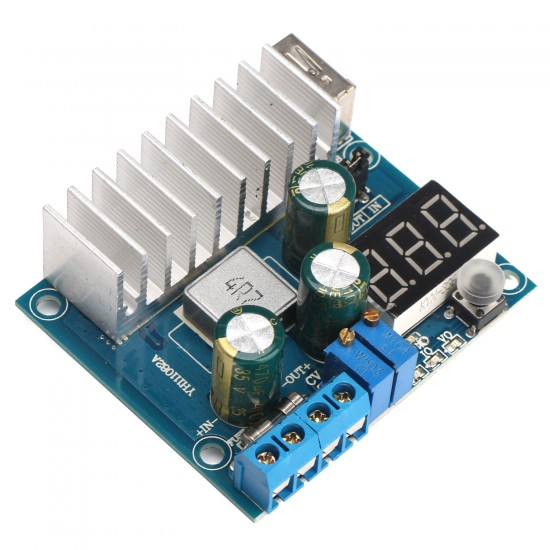 DC Buck Converter DC4~40V to 1.2~38V 3A Dual Output Power Adapter USB Charger for mobile Phone/Laptop/Tablet PC/MP3 etc