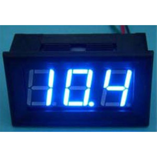 Digital Tester/Panel Meter DC 0~100V Voltmeter Red/Yellow/Blue/Green Led display Voltage Meter/Digital Meter DC 12V 24V Volt Meter/Monitor