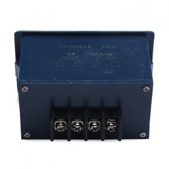 Digital AC 0-599V Voltmeter Red LED Digital Voltage Meter AC 220V Voltage Power Monitor