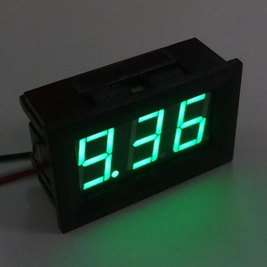 DC 0-9.99V Red/Blue/Green LED Display Volt Voltmeter 0.56