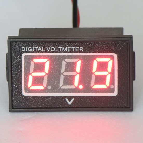 DC Voltmeter 15-120V for Electric Motor Car 24V 36V 48V 60V 72V 96V Waterproof Led Voltmeter Shockproof Panel Meter