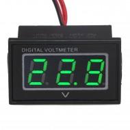 Waterproof Digital Volt Gauges DC 15-120V Red/Blue/Green LED Panel Meter Power Monitor for Battery Car Motorcycle and DIY etc