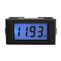 DC 7.5-19.99V Digital Voltmeter Blue LCD Digital Voltage Panel Meter Power Monitor