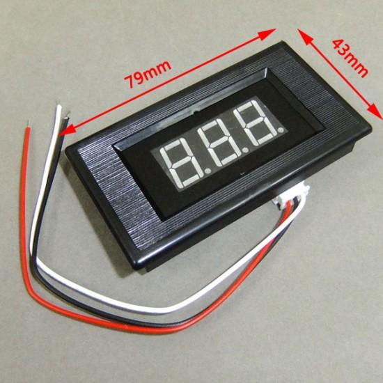 Digital Meter DC 0~100V Voltage Meter Red/Blue/Green Led display Voltmeter/Panel Meter/Monitor/Tester DC 12V 24V Volt Meter