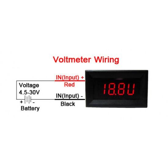 Digital Voltmeter Ammeter DC 4~30.0V/2A Voltage Current Meter 2in1 Digital Tester/Panel Meter DC 12V 24V Volt Ampere Meter