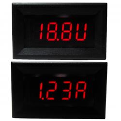 Digital Voltage Current Meter DC 4~30.0V/5A Voltmeter Ammeter Red Led display Panel Meter/Monitor/Tester DC 12V 24V Digital Meter 2in1