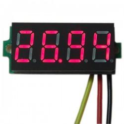 Digital Voltmeter DC 0~33.00V Voltage Meter Red/Blue/Green Led display Digital Meter DC 12V 24V Volt Meter/Panel Meter/Monitor/Tester