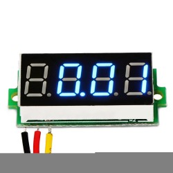 Digital Tester DC 0~33.00V Voltmeter Red/Blue/Green Led display Voltage Meter/Digital Meter DC 12V 24V Volt Meter/Panel Meter/Monitor