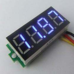 Digital Tester DC 0~33.00V Voltmeter Red/Blue/Green Led display Voltage Meter/Digital Meter DC 12V 24V Volt Meter/Panel Meter/Monitor