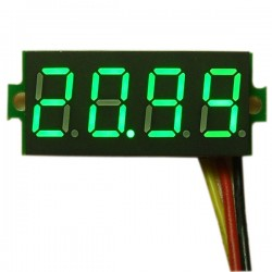 DC Voltage Meter DC 0~33.00V Voltmeter Red/Blue/Green Led display Digital Meter DC 12V 24V Volt Meter/Panel Meter/Monitor/Tester