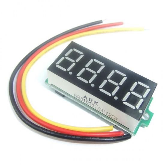 DC Voltage Meter DC 0~33.00V Voltmeter Red/Blue/Green Led display Digital Meter DC 12V 24V Volt Meter/Panel Meter/Monitor/Tester