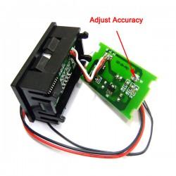 Mini DC 12V 24V Red/Blue/Green LED Temperature Monitor Meter Fahrenheit 0-167°F Digital Thermometer