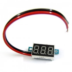 Digital Meter DC 3.3V~30V Voltage Meter/Panel Meter Red/Blue/Yellow/Green Led display Voltmeter DC 12V 24V Volt Meter/Monitor/Tester