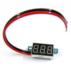 DC Tester/Digital Meter DC 3.3V~30V Voltmeter Red/Blue/Yellow/Green Led display Voltage Meter/Panel Meter DC 12V 24V Volt Meter/Monitor