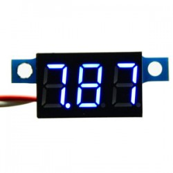 Digital Voltmeter/Panel Meter DC 3.3V~17V Red/Blue/Yellow/Green Led display Voltage Meter DC 6V 12V Volt Meter/Digital Meter/Monitor/Tester