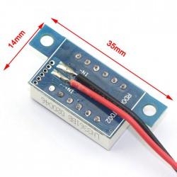 Digital Voltmeter/Panel Meter DC 3.3V~17V Red/Blue/Yellow/Green Led display Voltage Meter DC 6V 12V Volt Meter/Digital Meter/Monitor/Tester