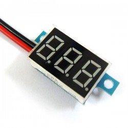 Digital Meter/Tester DC 3.3V~17V Digital Voltmeter Red/Blue/Yellow/Green Led display Voltage Meter/Panel Meter DC 6V 12V Volt Meter/Monitor