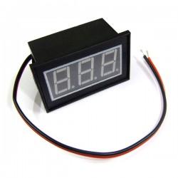 Two Wire 2.5-30V Red/Blue/Green LED Voltage Monitor Meter DC 6V/12V /24V Digital Voltmeter