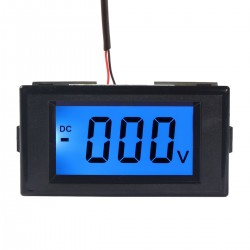 Digital Meter DC 0~600V Voltmeter Blue Backlight LCD Display Digital Voltage Meter AC/DC 12V Digital Voltage Meter/ Volt Monitor