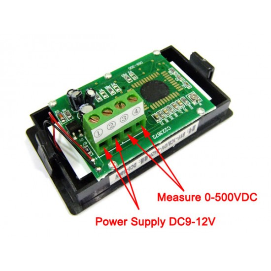 Digital Meter DC 0~600V Voltmeter Blue Backlight LCD Display Digital Voltage Meter AC/DC 12V Digital Voltage Meter/ Volt Monitor