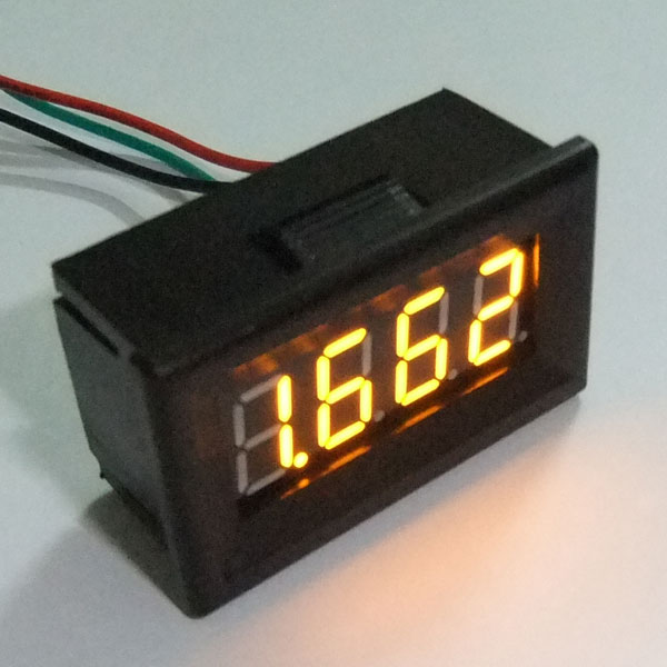 Mini High-Precision DC 0-3.300V LED Voltage Monitor Meter DC Red/Blue/Yellow/Green LED Digital Voltmeter