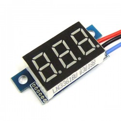 DC 0~100V Digital Voltage Meter/Panel Meter/Monitor/Tester Red/Blue/Yellow/Green Led display Voltmeter DC 12V 24V Volt Meter/Digital Meter