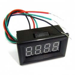 Mini 24V/110V Voltage Gauges 4 Digit DC 0-200V Red/Blue/Yellow/Green LED Digital Voltmeter