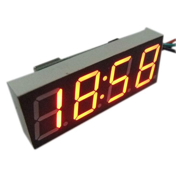 Car Clock Red/Yellow/Blue/Green Led display Car Clock /Digital Meter/Panel Meter Adjustable Digital Clock DC 12V 24V DIY Time Monitor/Tester