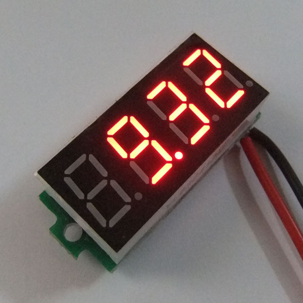 Digital Voltmeter DC 4.50-30.00V Voltage Meter Red/Blue/Green Led display Digital Meter DC 12V 24V Volt Meter/Panel Meter/Monitor/Tester