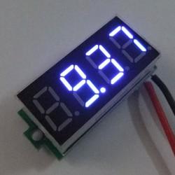 Digital Voltage Meter DC 4.50-30.00V Digital Meter/Voltmeter Red/Blue/Green Led display Tester/Panel Meter DC 12V 24V Volt Meter/Monitor