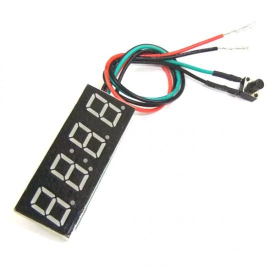 24-hour Digital Clock Red/Yellow/Blue/Green Led display Digital Meter/Panel Meter Adjustable Car Clock DC 12V 24V DIY Time Monitor/Tester