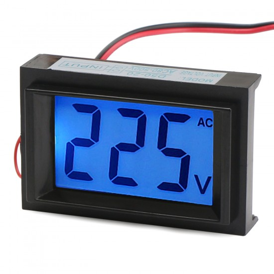 Digital Tester AC 80~500V Blue Backlight LCD Display Voltmeter AC 110V 220V 380V Voltage Meter AC Volt Panel Meter